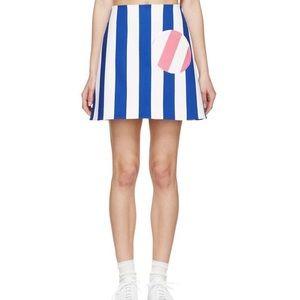Jacquemus Blue Striped Mini Skirt